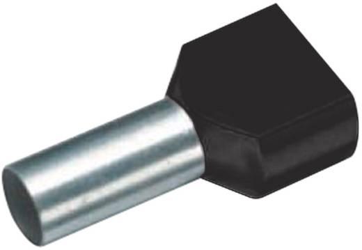 Zwillings-Aderendhülse 2 x 6 mm² x 14 mm Teilisoliert Schwarz Cimco 18 2450 100 St.