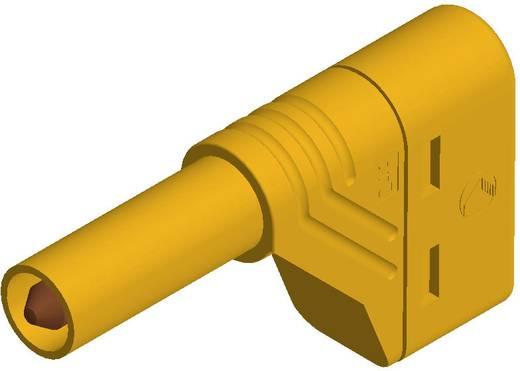 Sicherheits-Lamellenstecker Stecker, gewinkelt Stift-Ø: 4 mm Gelb SKS Hirschmann LAS S W 1 St.