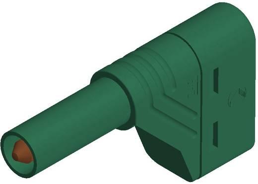 Sicherheits-Lamellenstecker Stecker, gewinkelt Stift-Ø: 4 mm Grün SKS Hirschmann LAS S W 1 St.