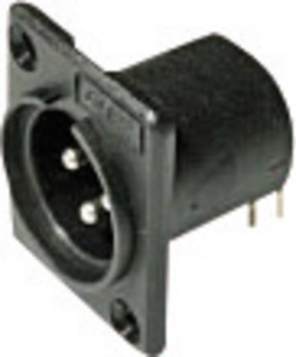 XLR-Steckverbinder Flanschstecker, Kontakte gewinkelt Polzahl: 3 Schwarz Cliff ACM / PC 1 St.