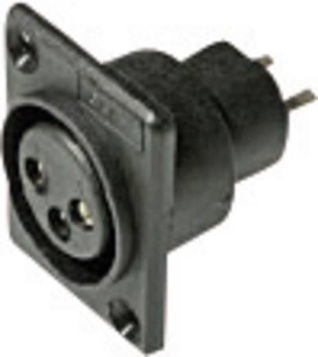 XLR-Steckverbinder Flanschbuchse, Kontakte gerade Polzahl: 3 Schwarz Cliff ACF 1 St.