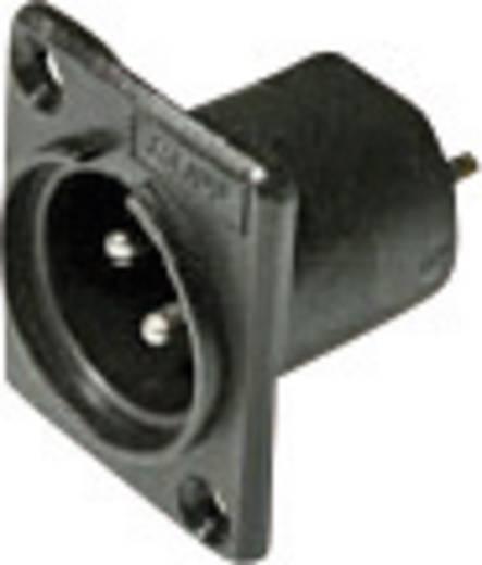 XLR-Steckverbinder Flanschstecker, Kontakte gerade Polzahl: 3 Schwarz Cliff ACM 1 St.
