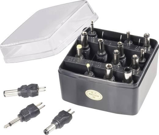 VOLTCRAFT MWX15 Netzgeräte Adapter-Set 16tlg. mit 2 Klinkenadapter und 14 Niedervolt-Adapter, gerade 16 Teile