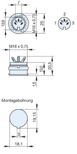 DIN-Rundsteckverbinder Buchse, Einbau vertikal Polzahl: 3 Grau Hirschmann MAB 3100 S 1 St.