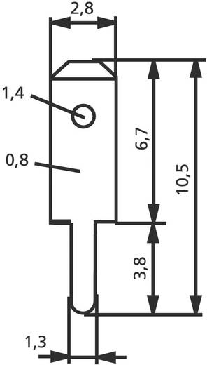 Steckzunge Steckbreite: 2.8 mm Steckdicke: 0.8 mm 180 ° Unisoliert Metall Vogt Verbindungstechnik 3780a08.61 100 St.