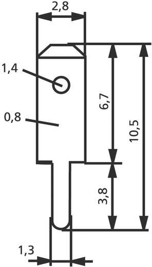 Vogt Verbindungstechnik 3780a08.61 Steckzunge Steckbreite: 2.8 mm Steckdicke: 0.8 mm 180 ° Unisoliert Metall 100 St.