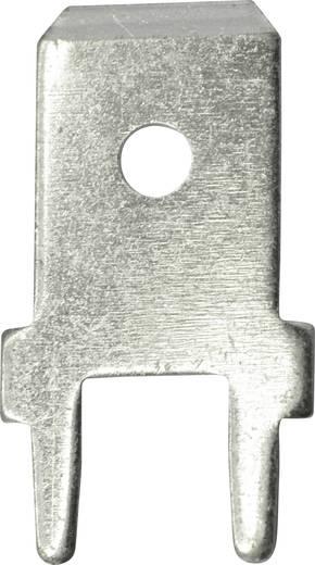 Steckzunge Steckbreite: 6.3 mm Steckdicke: 0.8 mm 180 ° Unisoliert Metall Vogt Verbindungstechnik 3866A.68 100 St.