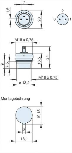 DIN-Rundsteckverbinder Stecker, Einbau vertikal Polzahl: 3 Grau Hirschmann MASEI 3100 1 St.