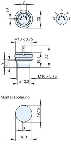 DIN-Rundsteckverbinder Stecker, Einbau vertikal Polzahl: 5 Grau Hirschmann MASEI 5100 S 1 St.