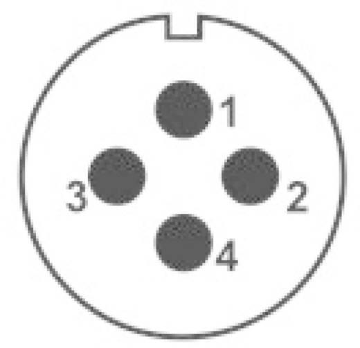 IP68-Steckverbinder Serie SP2113 / S 4 Pole: 4 Flanschbuchse zur Frontmontage 30 A SP2113 / S 4 Weipu 1 St.