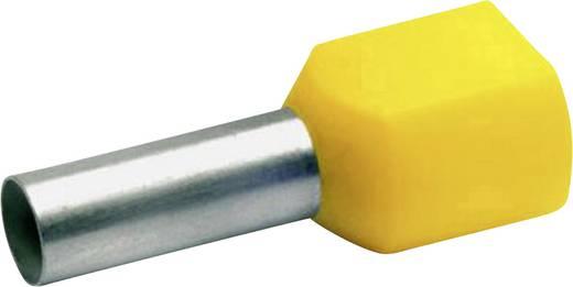 Zwillings-Aderendhülse 2 x 10 mm² x 14 mm Teilisoliert Rot Klauke 87614 100 St.