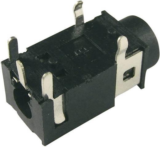 Klinken-Steckverbinder 3.5 mm Buchse, Einbau horizontal Polzahl: 4 Stereo Schwarz Cliff FC68125 1 St.
