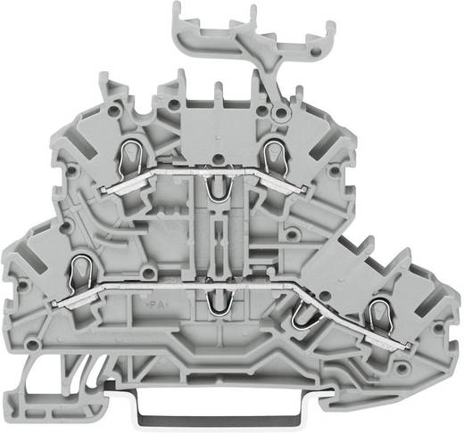 Doppelstock-Durchgangsklemme 3.50 mm Zugfeder Belegung: L, L Grau WAGO 2000-2201 1 St.