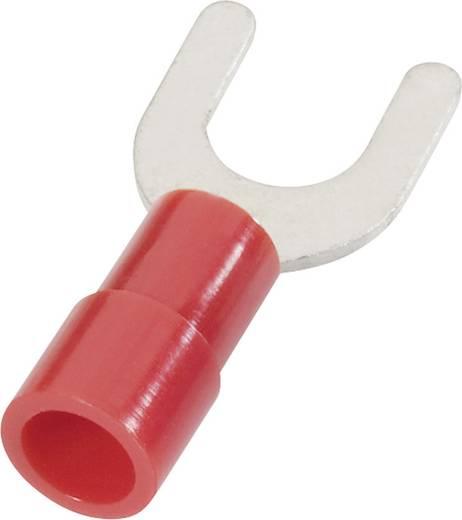 Gabelkabelschuh 0.50 mm² 1 mm² Loch-Ø=3.2 mm Teilisoliert Rot Cimco 180120 1 St.