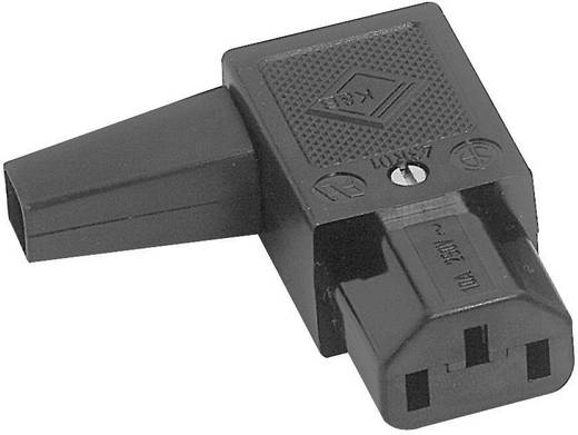 Kaltgeräte-Steckverbinder 43R Serie (Netzsteckverbinder) 43R Buchse, gewinkelt Gesamtpolzahl: 2 + PE 10 A Schwarz K & B