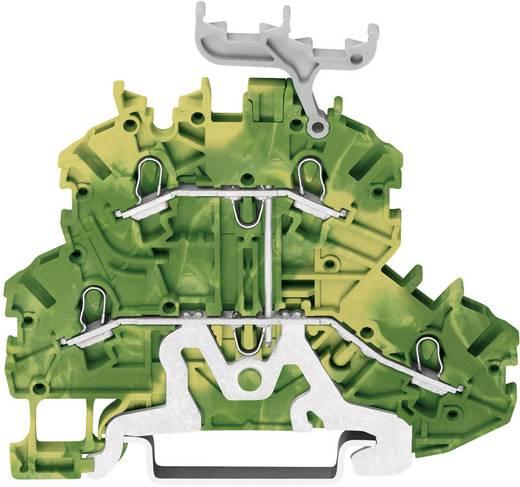 Doppelstock-Schutzleiterklemme 3.50 mm Zugfeder Belegung: PE Grün-Gelb WAGO 2000-2237 1 St.