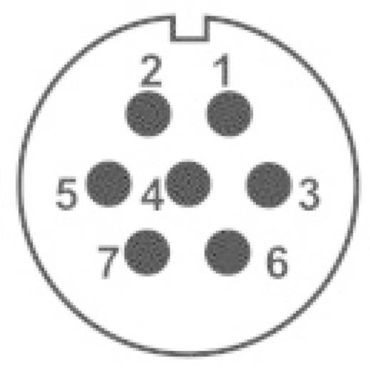 IP68-Steckverbinder Serie SP2113 / S 7 Pole: 7 Flanschbuchse zur Frontmontage 15 A SP2113 / S 7 Weipu 1 St.