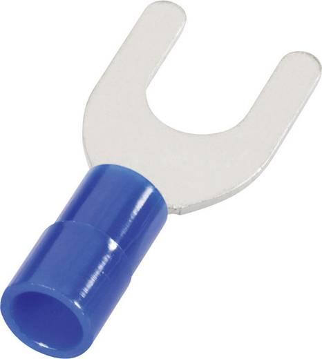Gabelkabelschuh 1.50 mm² 2.50 mm² Loch-Ø=6.5 mm Teilisoliert Blau Cimco 180148 1 St.