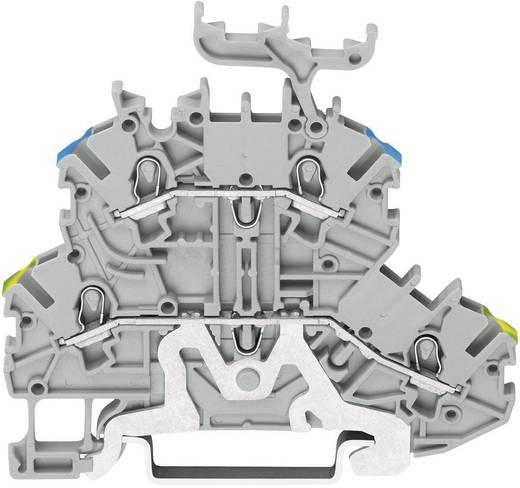 Doppelstock-Schutzleiterklemme 3.50 mm Zugfeder Belegung: PE, L Grau WAGO 2000-2227 1 St.