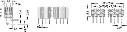 Buchsenleiste (Standard) Anzahl Reihen: 2 Polzahl je Reihe: 36 Fischer Elektronik BL 4/ 72/Z 1 St.