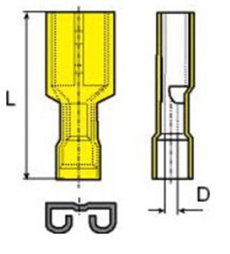 Flachsteckhülse Steckbreite: 6.3 mm Steckdicke: 0.8 mm 180 ° Vollisoliert Gelb Vogt Verbindungstechnik 3947 1 St.