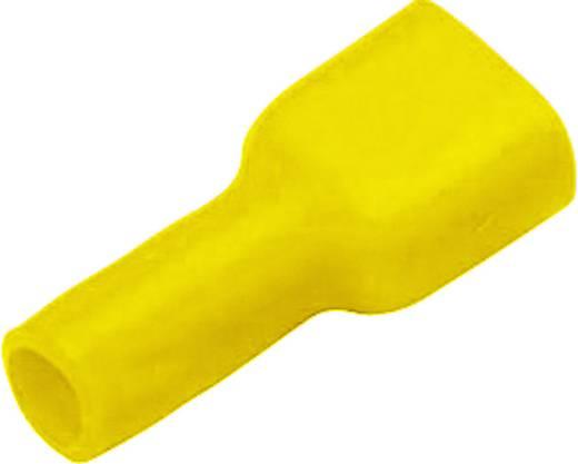 Flachstecker Steckbreite: 6.3 mm Steckdicke: 0.8 mm 180 ° Vollisoliert Gelb Vogt Verbindungstechnik 3972S 1 St.
