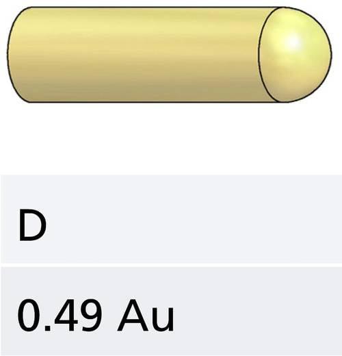 PTR 1007-D-0.7N-AU-0.5 Präzisions-Prüfstift für Leiterplattenprüfung, Federkontakt