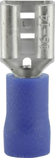 Flachsteckhülse Steckbreite: 6.3 mm Steckdicke: 0.8 mm 180 ° Teilisoliert Blau Vogt Verbindungstechnik 3906 1 St.