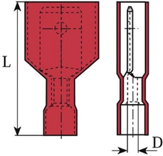 Flachstecker Steckbreite: 6.3 mm Steckdicke: 0.8 mm 180 ° Vollisoliert Rot Vogt Verbindungstechnik 3959 1 St.