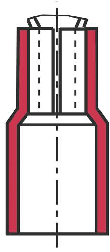 Flachstecker Steckbreite: 4.8 mm Steckdicke: 0.5 mm 180 ° Teilisoliert Rot Vogt Verbindungstechnik 392805S 1 St.