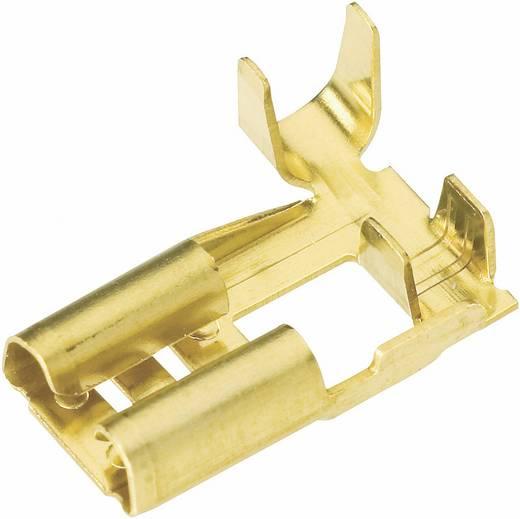 Flachsteckhülse Steckbreite: 2.8 mm Steckdicke: 0.8 mm 90 ° Unisoliert Metall Vogt Verbindungstechnik 3765W.60 1 St.
