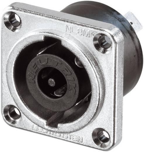 Lautsprecher-Steckverbinder Flanschbuchse, Kontakte gerade Polzahl: 8 Silber Neutrik NLT8MP 1 St.