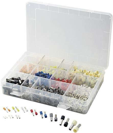 Aderendhülsen-Sortiment 0.5 mm² 10 mm² Orange, Weiß, Gelb, Red, Blau, Grün, Schwarz, Weiß Conrad Components 737030 2700