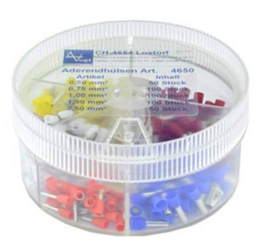 Aderendhülsen-Sortiment 0.5 mm² 2.5 mm² Orange, Weiß, Gelb, Rot, Blau Vogt Verbindungstechnik 737035 400 St.