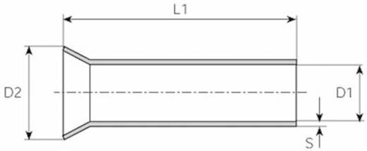 Aderendhülse 1 x 1 mm² x 8 mm Unisoliert Metall Vogt Verbindungstechnik 440308.47 100 St.