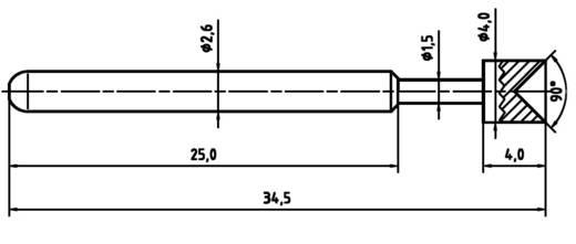 PTR 1040-A-1.5N-NI-4.0 Präzisions-Prüfstift für Leiterplattenprüfung, Federkontakt