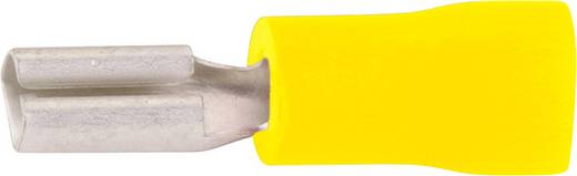 Flachsteckhülse Steckbreite: 2.8 mm Steckdicke: 0.5 mm 180 ° Teilisoliert Gelb Vogt Verbindungstechnik 389805 1 St.