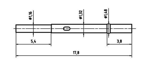 PTR H 1010 C Präzisions-Prüfstift für Leiterplattenprüfung, Federkontakt