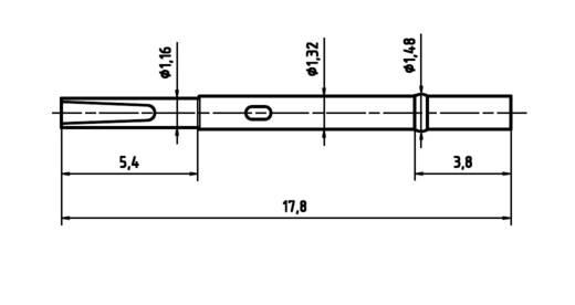 PTR H 1010 L Präzisions-Prüfstift für Leiterplattenprüfung, Federkontakt