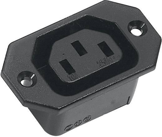 Kaltgeräte-Steckverbinder C13 Serie (Netzsteckverbinder) 43R Buchse, Einbau vertikal Gesamtpolzahl: 2 + PE 10 A Schwarz