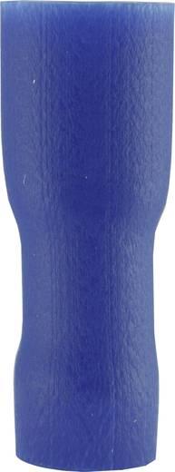 Flachsteckhülse Steckbreite: 4.8 mm Steckdicke: 0.8 mm 180 ° Vollisoliert Blau Vogt Verbindungstechnik 396208 1 St.