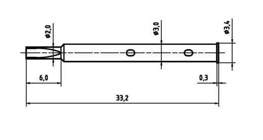 PTR H 1045 L Präzisions-Prüfstift für Leiterplattenprüfung, Federkontakt