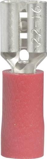 Flachsteckhülse Steckbreite: 4.8 mm Steckdicke: 0.5 mm 180 ° Teilisoliert Rot Vogt Verbindungstechnik 3901 1 St.