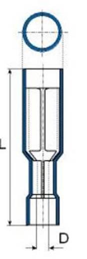 Rundsteckhülse 1.5 mm² 2.5 mm² Stift-Ø: 5 mm Vollisoliert Blau Vogt Verbindungstechnik 3916S 1 St.