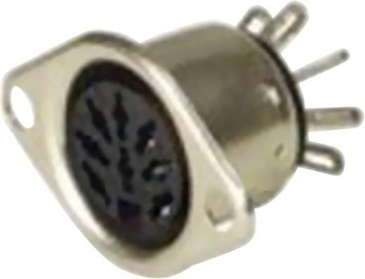 DIN-Rundsteckverbinder Flanschbuchse, Kontakte gerade Polzahl: 8 Silber Hirschmann MAB 8 SN 1 St.