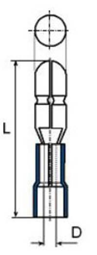 Rundstecker 1.5 mm² 2.50 mm² Stift-Ø: 5 mm Teilisoliert Blau Vogt Verbindungstechnik 3921 1 St.