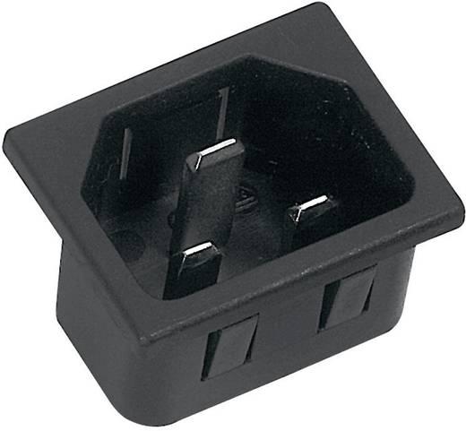 Kaltgeräte-Steckverbinder C20 Serie (Netzsteckverbinder) 42R Stecker, Einbau vertikal Gesamtpolzahl: 2 + PE 16 A Schwarz