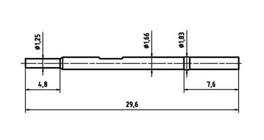 PTR H 1025 C Präzisions-Prüfstift-Hülse für Leiterplattenprüfung, Federkontakt