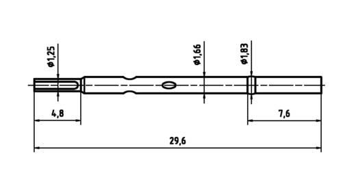 PTR H 1025 L Präzisions-Prüfstift für Leiterplattenprüfung, Federkontakt