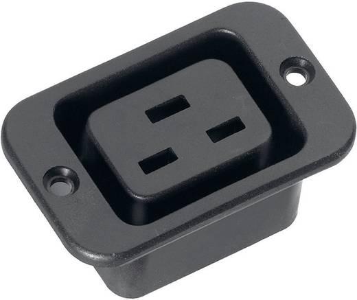 Kaltgeräte-Steckverbinder C19 Serie (Netzsteckverbinder) 53R Buchse, Einbau vertikal Gesamtpolzahl: 2 + PE 16 A Schwarz